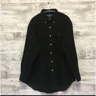 ラルフローレン(Ralph Lauren)のRalph Lauren コーデュロイシャツ ブラック Lサイズ(シャツ)