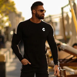 ジムマスター(GYM MASTER)の新品クロノスcronos 黒ロンT 長袖カットソージム 筋トレ リフトLYFT(Tシャツ/カットソー(七分/長袖))