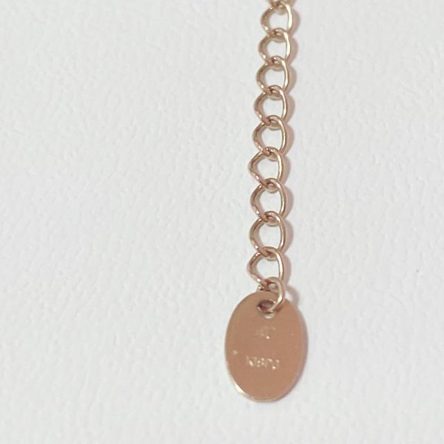 4℃(ヨンドシー)の4℃ K18PGクロス(十字架)ネックレス レディースのアクセサリー(ネックレス)の商品写真