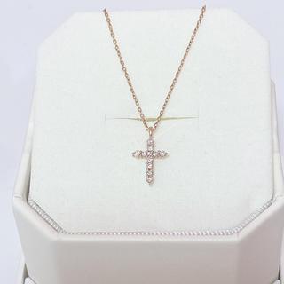 ヨンドシー(4℃)の4℃ K18PGクロス(十字架)ネックレス(ネックレス)