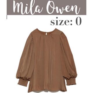 Mila Owen - 【美品】 Mila Owen 袖口シャーリングブラウス シャーリングブラウス