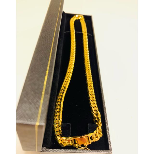 美品 喜平ネックレス6面ダブル 50cm 100.7g K18YG造幣局検定刻印 メンズのアクセサリー(ネックレス)の商品写真