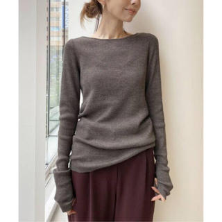 L'Appartement DEUXIEME CLASSE - L'Appartement  Rib B/N Knit  ベージュ