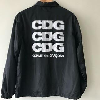 COMME des GARCONS - コムデギャルソン CDGロゴ コーチジャケット ブラック L