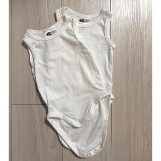 エイチアンドエム(H&M)のH&M ノースリーブインナー ボディスーツ 2枚セット(60cmくらい)(肌着/下着)
