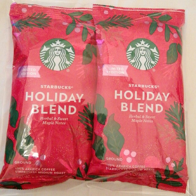 Starbucks Coffee(スターバックスコーヒー)のスタバ コーヒー 2020クリスマスタンブラー 粉 2袋 食品/飲料/酒の飲料(コーヒー)の商品写真