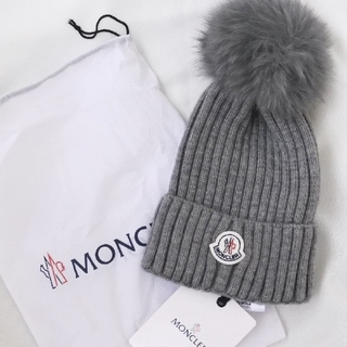 MONCLER - NCLER モンクレール ニット帽 ビーニー  グレー