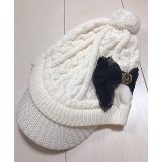 マークアンドロナ(MARK&LONA)のラッセルノ ゴルフ レディース リボン ニット帽 帽子(その他)