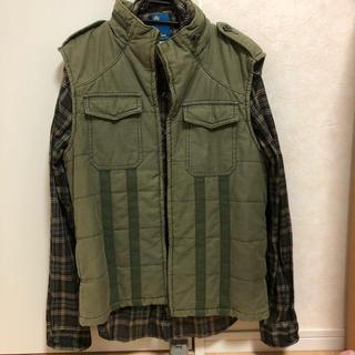 ビームス(BEAMS)の深緑シャツ カーキミリタリージャケット 2点 セット(ミリタリージャケット)