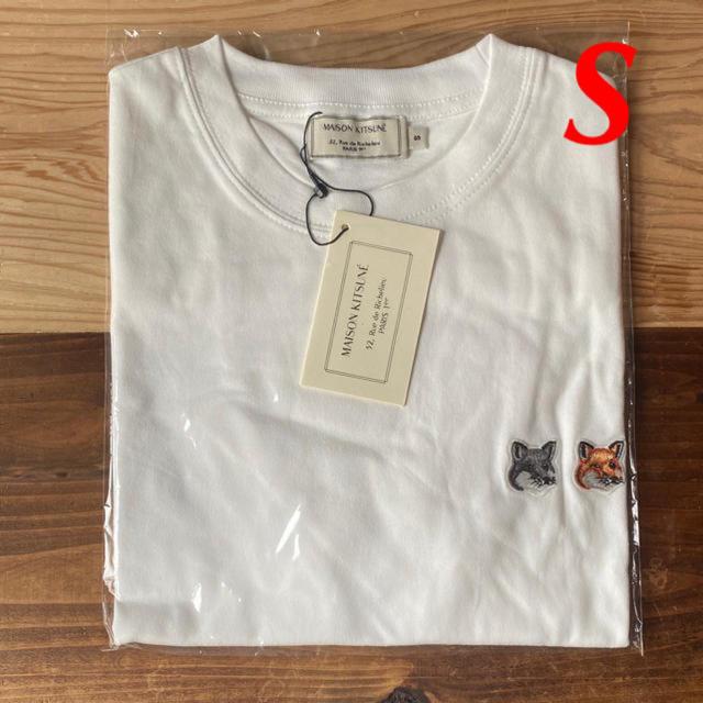 MAISON KITSUNE'(メゾンキツネ)の【新品】メゾンキツネ Tシャツ ホワイト S MAISON KITSUNE レディースのトップス(Tシャツ(半袖/袖なし))の商品写真