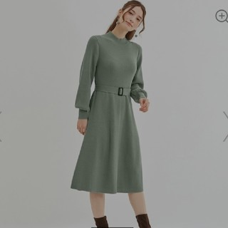 GU - GU☆Aラインハイネックニットワンピース