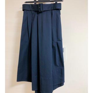エストネーション(ESTNATION)のエストネーションネイビーベルト付きスカート(ひざ丈スカート)