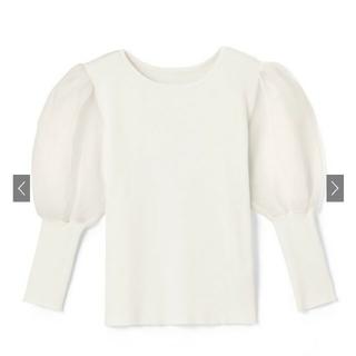 GRL - GRL 袖チュール切り替えトップス 新品タグ付き