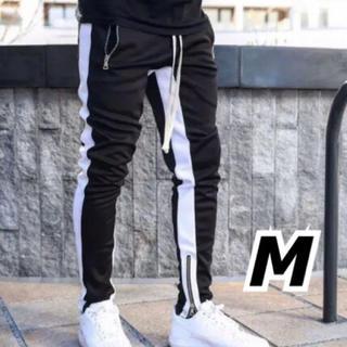 メンズ ジョガーパンツ ライン ブラック M 【新品】(その他)