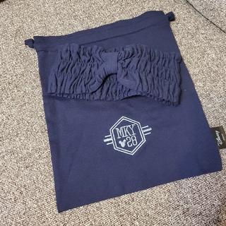 ジーユー(GU)のGU ヘアバンド 袋付き ネイビー(ヘアバンド)