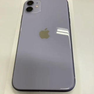 iPhone - iPhone 11 ケース付き SIMフリー パープル 美品 128 GB