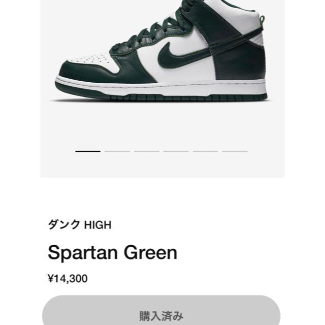 NIKE(ナイキ)の28.5cm dunk high ダンク SP Pro Green メンズの靴/シューズ(スニーカー)の商品写真