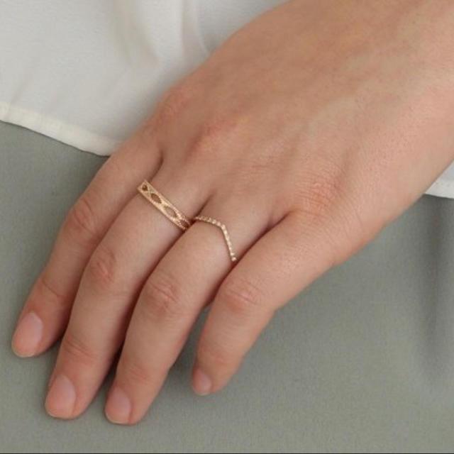 agete(アガット)のagete K10 リング 11号 レディースのアクセサリー(リング(指輪))の商品写真