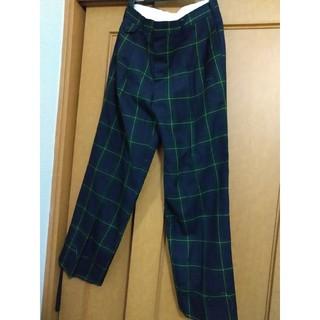 グリーン系 チェック柄 パンツ 大きめサイズ(その他)