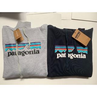 パタゴニア(patagonia)の新品 Patagonia フード付き  Lサイズ  ブラック+グレー(パーカー)