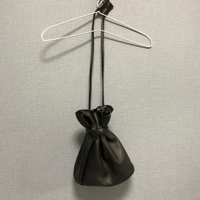 レザー巾着バッグ 2WAY メンズのバッグ(ショルダーバッグ)の商品写真