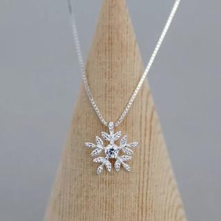 美品雪の結晶ネックレス 雪の結晶ペンダント 雪の花 高品質 オリジナル