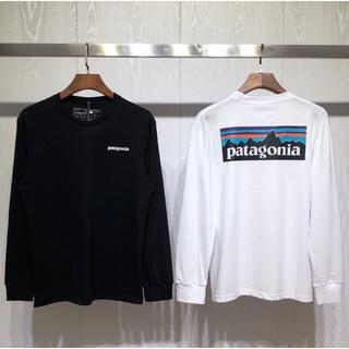 パタゴニア(patagonia)の2枚  Patagonia ロングTシャツ  Mサイズ  ブラック+ホワイト(Tシャツ(長袖/七分))