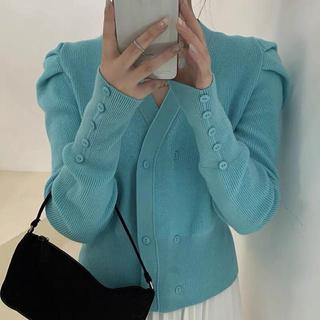 miumiu - 超可愛い Vネックカーディガンウールセーター