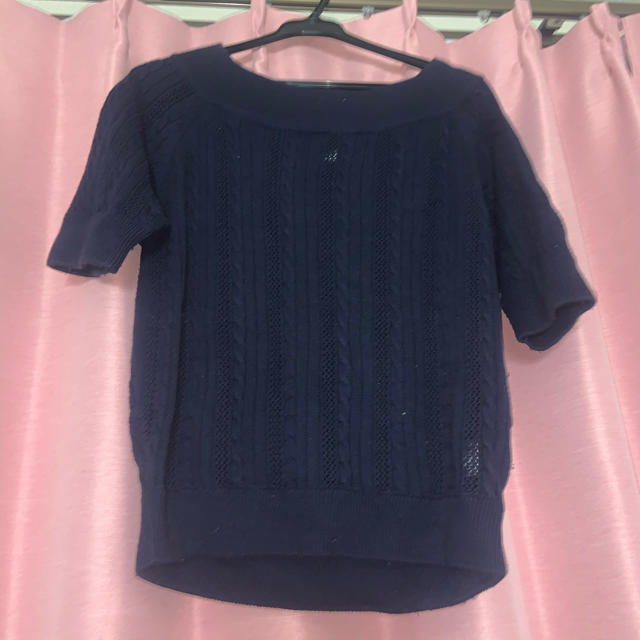 EMSEXCITE(エムズエキサイト)の半袖薄手ニット レディースのトップス(カットソー(半袖/袖なし))の商品写真