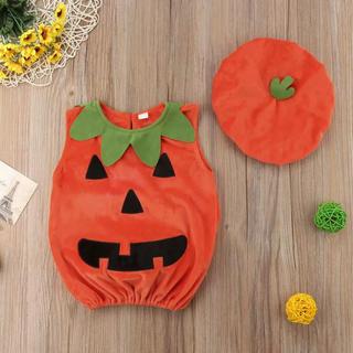 ハロウィン かぼちゃ コスプレ ベビー 3点セット