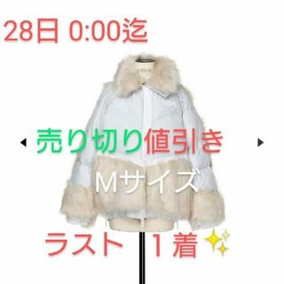 サカイ(sacai)のsacai×NIKE Mサイズ パーカーダウン ピュアプラチナム(ダウンコート)