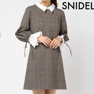 snidel - 【SNIDEL】チェック柄 襟付き ワンピース スナイデル  ミニワンピ
