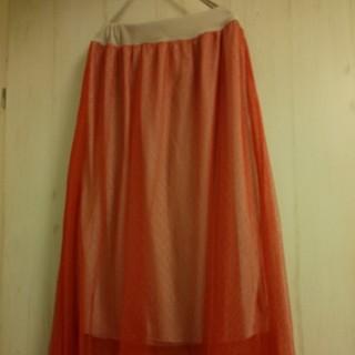 マーキーズ(MARKEY'S)のmarkey's マーキーズ CALMIA チュールスカート 赤 1 M~L(ロングスカート)