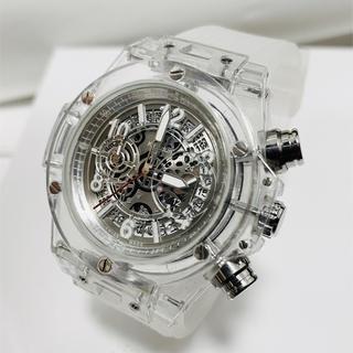 日本未発売KIMSDUN ラバーベルト スケルトンウォッチ メンズ 腕時計