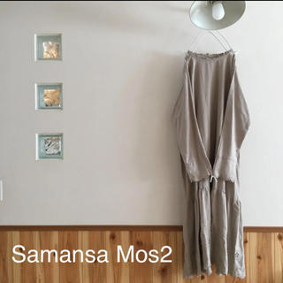 SM2 - Samansa Mos2♡ 裾スカラップワンピース