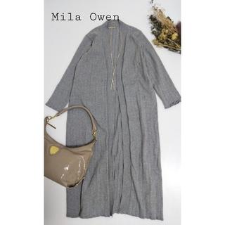 ミラオーウェン(Mila Owen)の【美品】ミラオーウェン ロングカーディガン(カーディガン)