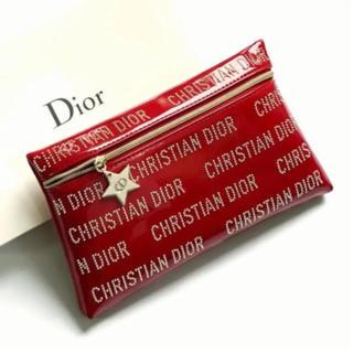 Christian Dior -  Dior * ノベルティ * ポーチ * 赤 * スタッズ
