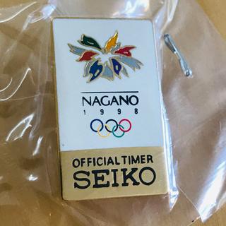 セイコー(SEIKO)の長野オリンピック SEIKO ピンバッジ(バッジ/ピンバッジ)