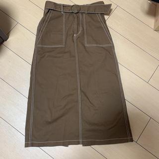 チャオパニック(Ciaopanic)のチャオパニック ブラウン スカート(ロングスカート)