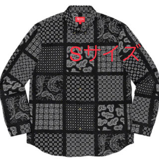 Supreme - Supreme Paisley Grid Shirt Black