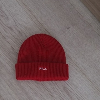 フィラ(FILA)の24日断捨離 新品  フィラ サイズフリー赤帽子(キャップ)