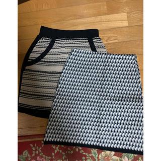 デュラス(DURAS)のデュラス  ニットスカート  2枚セット💖(ミニスカート)