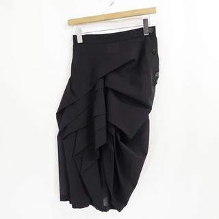 Yohji Yamamoto - 80s ヨウジヤマモト ウール アシンメトリー スカート ビンテージ 最初期