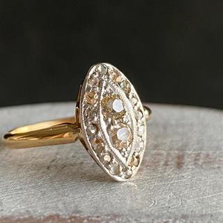 【レア】アンティーク ブラウンダイヤモンド プラチナ 18金 アールデコ