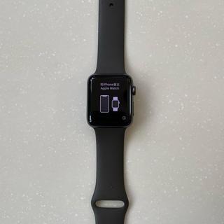 アップル(Apple)のApple Watch Series 3 42mm セルラーモデル グレー(腕時計(デジタル))