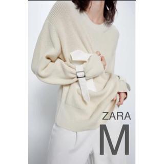 ザラ(ZARA)の【新品・未使用】ZARA ポケット付き セーター M(ニット/セーター)