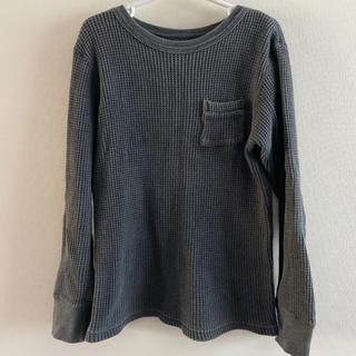 DENIM DUNGAREE - denim&dungaree   ワッフルTシャツ  ブラック 最終価格