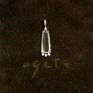 agete - アガット クォーツとダイヤモンドのK10ネックレスチャーム
