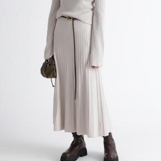 Mila Owen - オーガニックプリーツニットスカート