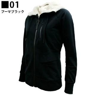 プーマ(PUMA)のプーマ レディース フード ボアモコモコ ジャケット ブラック Mサイズ(その他)